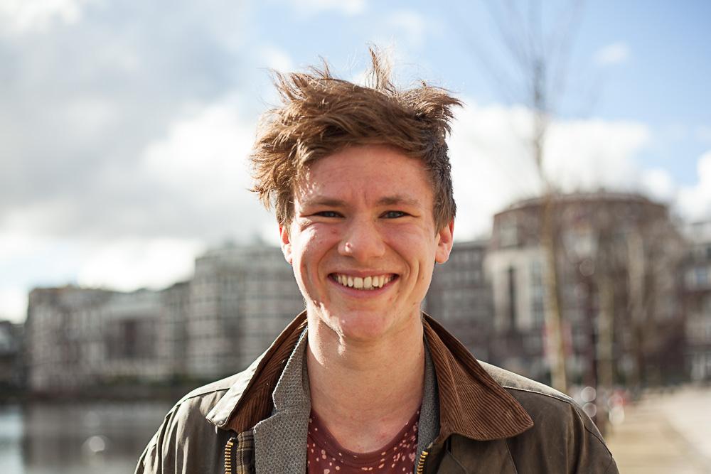 Chris portrait Amsterdam sun smiling