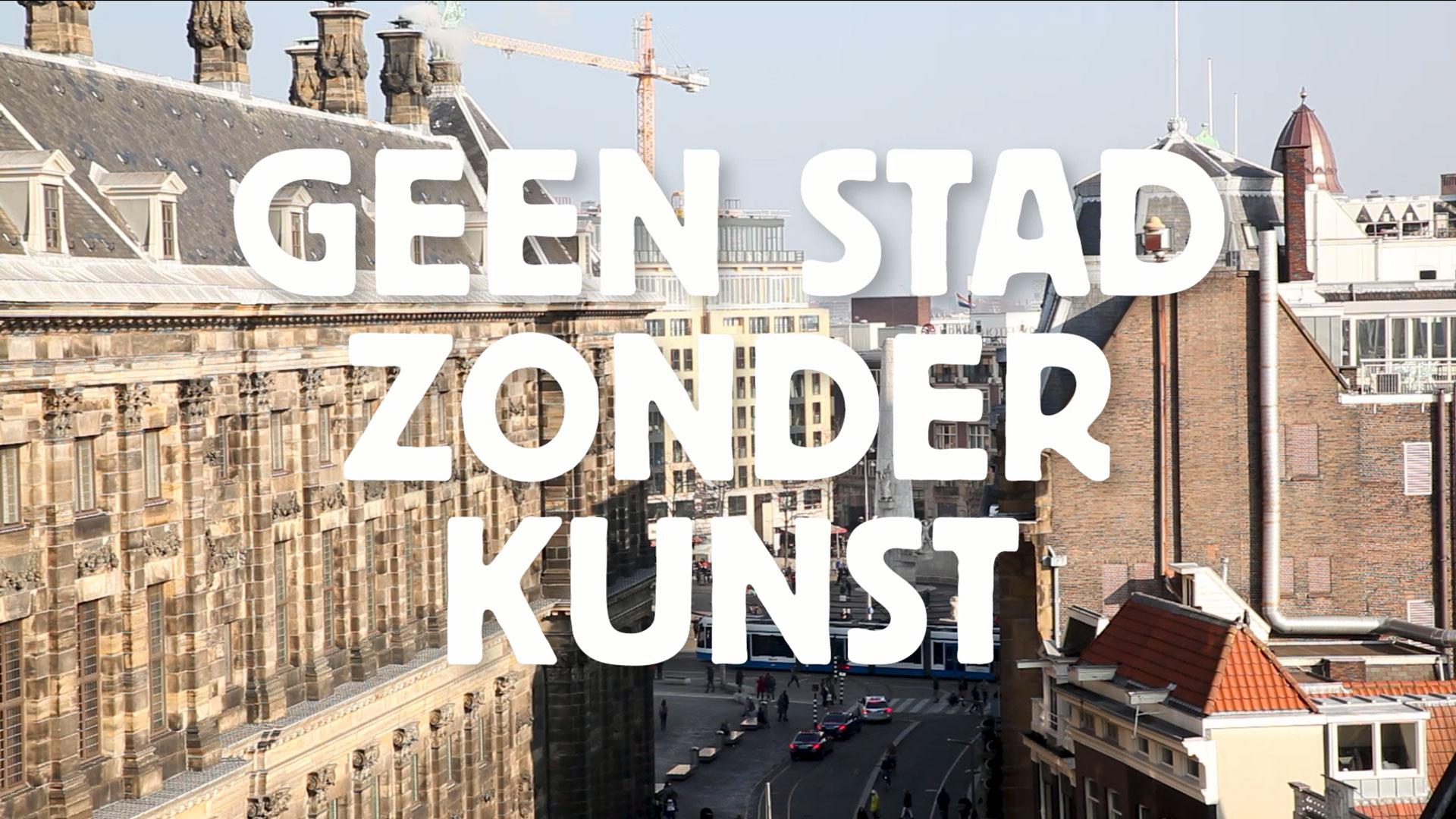 thumbnail geen stad zonder kunst, overview op de dam, amsterdam